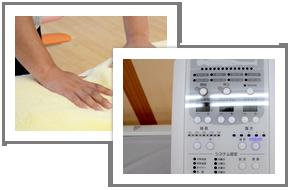 最新治療器と手技療法のイメージ